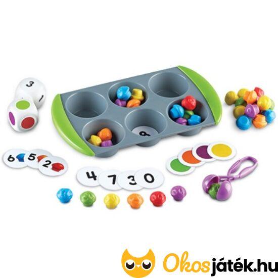 Szortírozó muffin - csipeszes játék -  LER 5556