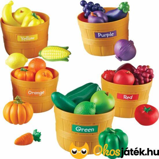 Szín válogató gyümölcsök, zöldségek kosárban - Learning Resources 3060 (LR)
