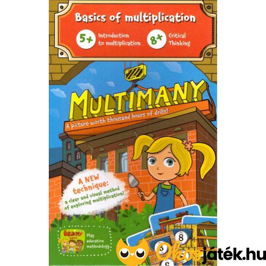 """Multimany - szorzás 2-vel, 3-mal, 4-gyel, 5-tel kártyajáték - Brainy Band (CU) """"Utolsó darabok"""""""