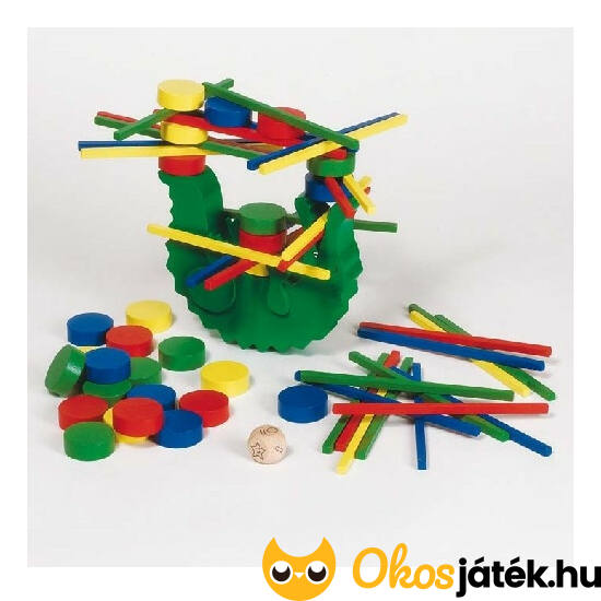 Goki egyensúlyozó krokodil - ügyességi társasjáték - GO 56966 NFT