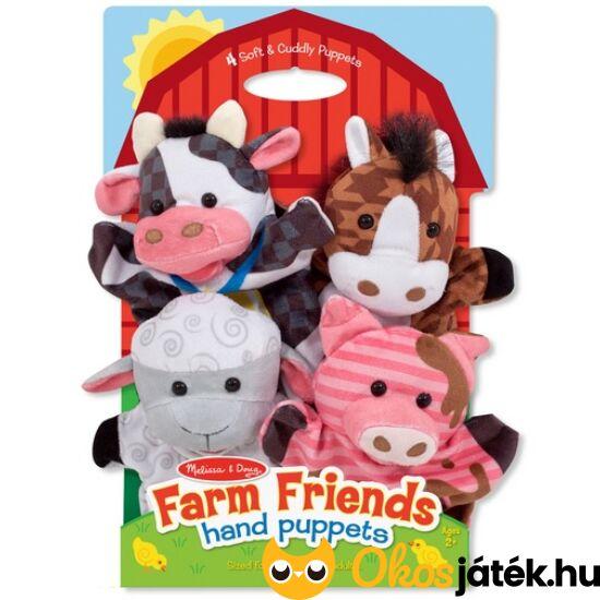Állatos bábjáték, bábkészlet, Farm kézbábok - Melissa Doug 19080 (ME-R5)