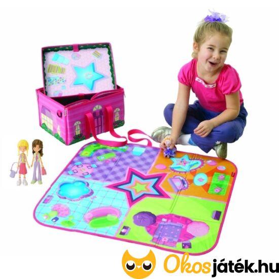 Játéktároló doboz lányoknak és játszószőnyeg egyben 2 babával - Zipbin 1078