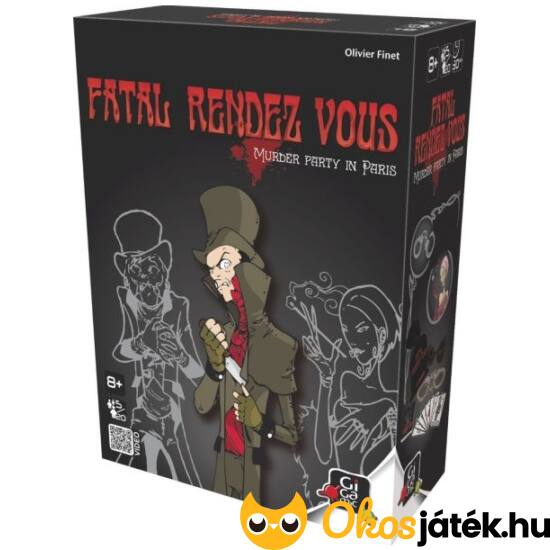 """Fatal Rendez-vous gyilkosos kártyajáték, gyilkosos társasjáték (GE) """"Utolsó darabok"""""""