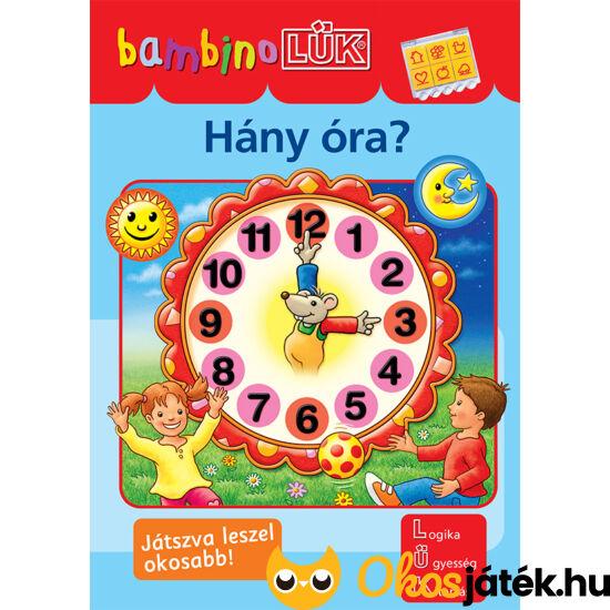 Hány óra? LÜK Bambino  füzet óvodásoknak LDI-137