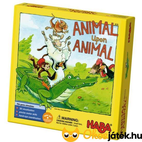 HABA Állatpiramis ügyességi állatos társasjáték - Tier auf Tier (HA)
