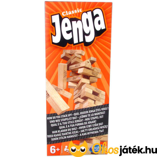 Jenga Hasbro ügyességi fa torony, Jenga társasjáték (JN)