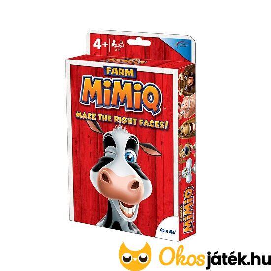 """MIMIQ - állatos, """"Farm"""" grimaszos, vicces kártyajáték (RE)"""
