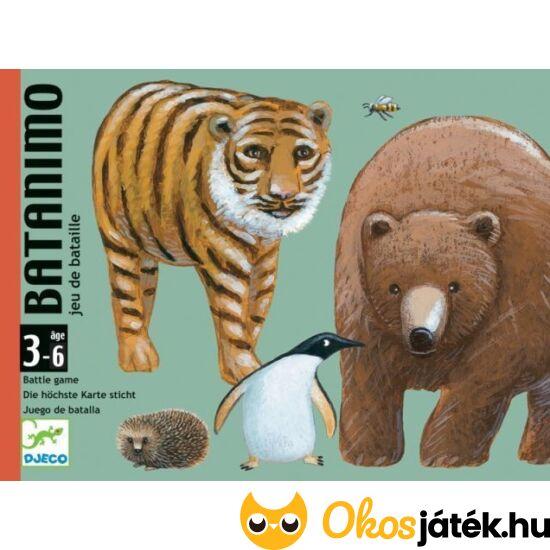 """Batanimo, állatos """"csata"""" kártyajáték gyerekeknek - Djeco 5177 (BO)"""