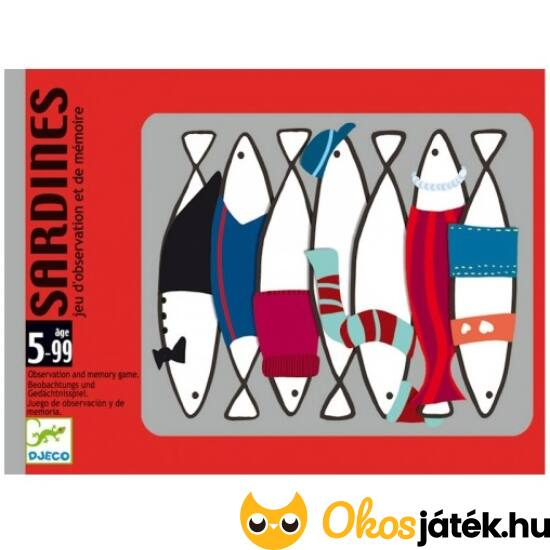 Sardines - Szardíniák a dobozban, izgalmas memória kártyajáték - Djeco DJ5161 (BO)
