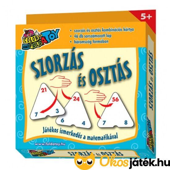 Szorzás kártya - Szorzás-osztás kombinációs kártyajáték, háromszög alakú - RE