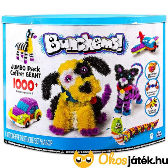 Bunchems Jumbo Pack 1000db - ragacsos építőbolyhok kreatív készlet (MH)