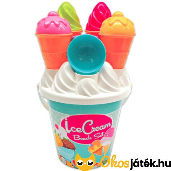 Fagyis homokozó játék - fagyi és muffin homokozó forma 14 db-os (JN)