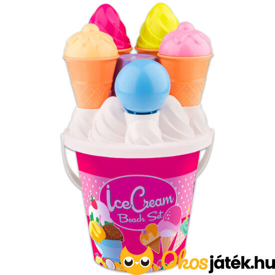 Fagyis homokozó játék - fagyi és muffin homokozó forma 14 db-os - JN 012920