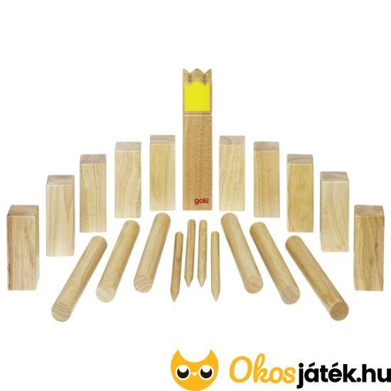 Viking sakk - Kubb fa szabadtéri játék Goki 56731 (GO)