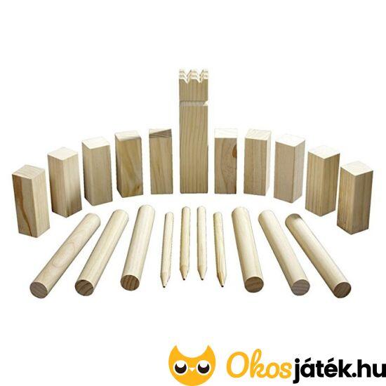 Viking sakk - Kubb fa szabadtéri játék - Philos 3313