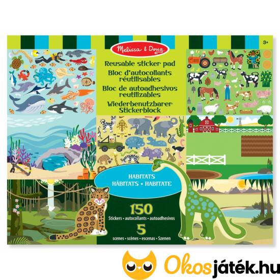 Állatos - matricás kreatív játék - Habitats Melissa Doug 14196 (ME-KP)
