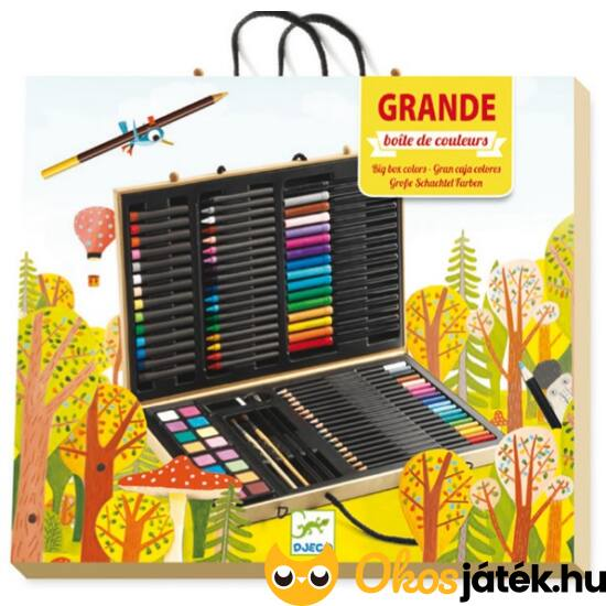 Óriási művészkészlet bőröndben - DJ 9750 - rajzeszközök