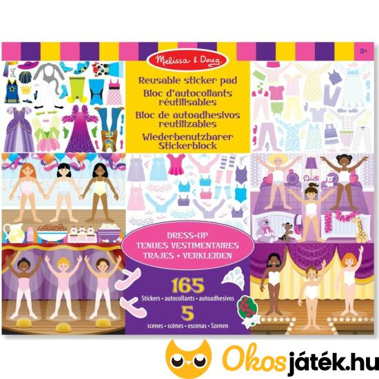 Öltöztetős matricás kreatív játék lányoknak Melissa Doug 14198 (ME-KP)