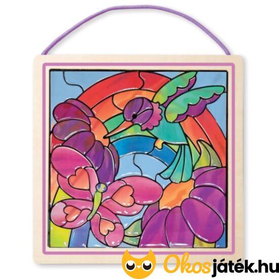 """Öntapadó üvegmatricás ablakdísz képkészítő (madaras) - ME14264 (ME-K1) """"Utolsó darabok"""""""