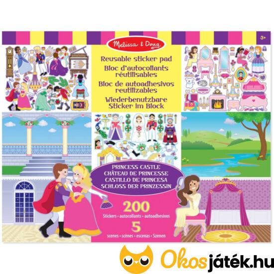 Hercegnős matricás kreatív játék lányoknak Melissa Doug 14306 (ME-KP)