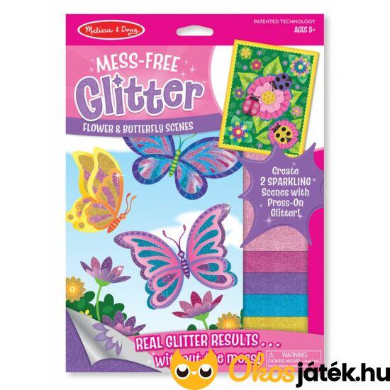 """Glitteres pillangós katicás kreatív játék lányoknak - Melissa Doug 19511 (ME-K2) """"Utolsó darabok"""""""