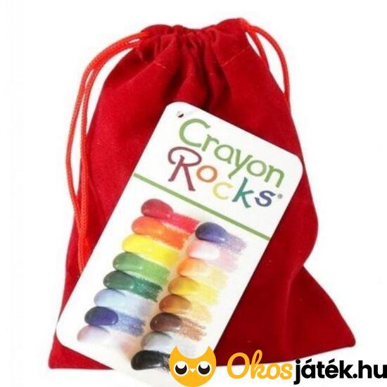 Crayon Rocks 16db-os kavics alakú zsírkréta bordó bársony tartóban (CU)