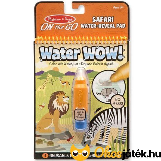Aqua Doodle szerű vizes tollas színező - Melissa, Safari állatos Water wow 19441 (ME-K2)