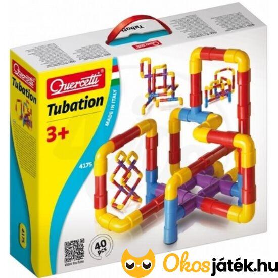 """Quercetti csőépítő játék - Quercetti Tubation """"csövek"""" építő készlet 4175 (KW) """"utolsó darabok"""""""
