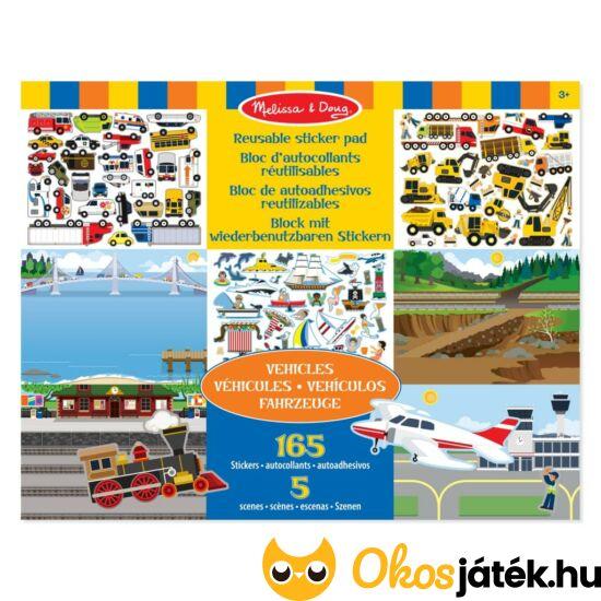 Autós, járműves - matricás kreatív játék  Melissa Doug 14199 (ME-KP)
