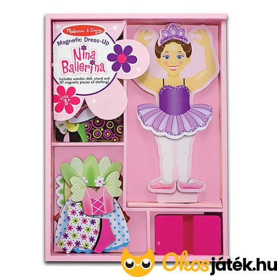 """Balerina öltöztetős játék fából - Nina Ballerina Melissa Doug 13554 (ME-54) """"utolsó darabok"""""""