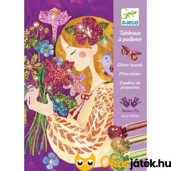 Csillámporos kreatív képkészítő - lányos, virágos 9508 (BO)