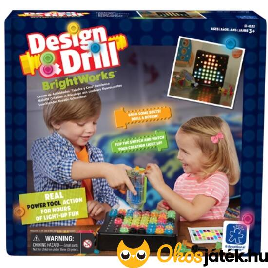 Design & drill brightworks - csavarhúzós, világítós kreatív játék 4122 (LR)