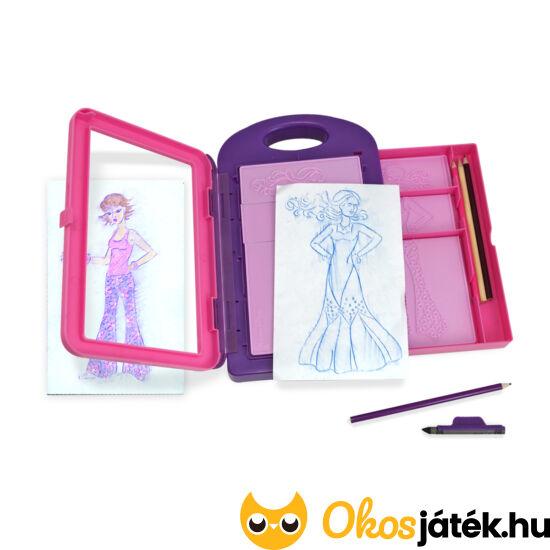 Divattervezős - öltöztetős játék lányoknak - Melissa Doug Fashion Design Kit 14312 (ME-K1)