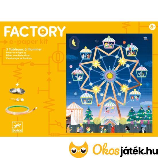 djeco ledes, világító áramkör elektromos kreatív játék 9311 factory e-paper