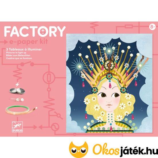 djeco világító kreatív játék led lámpákkal 9312 factory e-paper