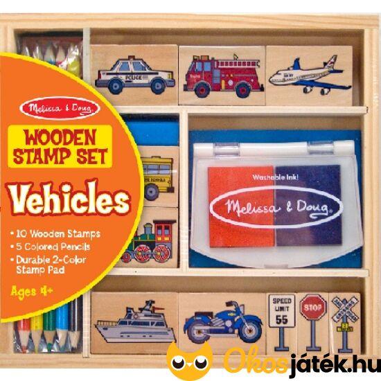 Gyereknyomda - autós, járműves gyereknyomda szett - Melissa Doug 12409 (ME-K1)