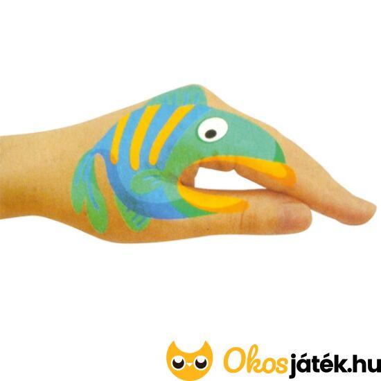 Halas kéz tetováló matrica készlet (6db) (ED)