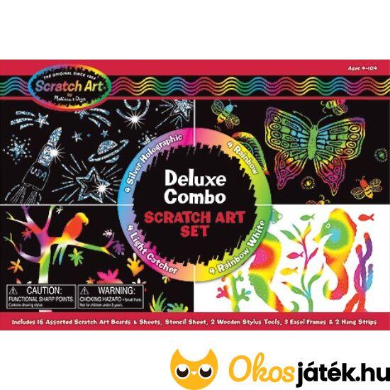 Képkarcolós játék készlet 16 darabos Deluxe Combo- Melissa Doug 15981 (ME-K1)