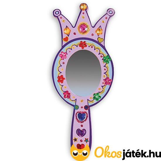 Hercegnős tükör készítő - díszíthető kis fa kézi tükör Melissa Doug 13096 (ME-K1)
