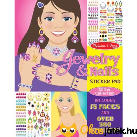 """Matricás köröm díszítő és ékszerek - kreatív játék lányoknak Melissa Doug 14223 (ME-KP) """"Utolsó darabok"""""""