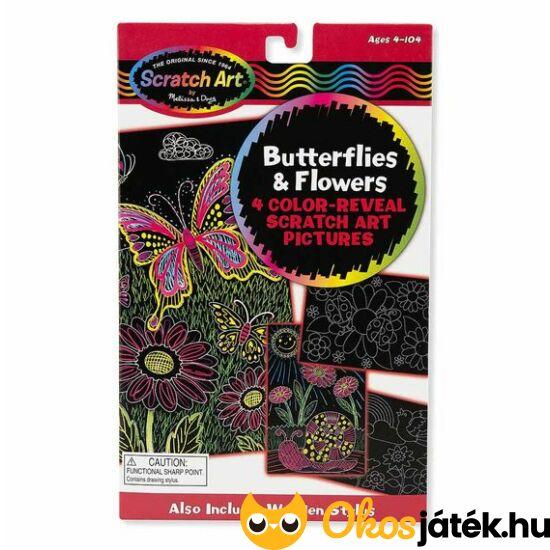 Karckép készítő szett, pillangós-virágos, 4 darabos- Melissa Doug 15956 (ME-K2)