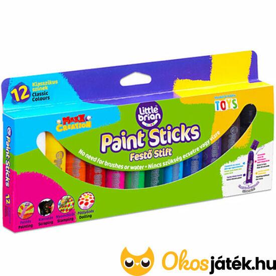 Little Brian festő stift - Paint Sticks 12 darabos készlet (MH) 69824