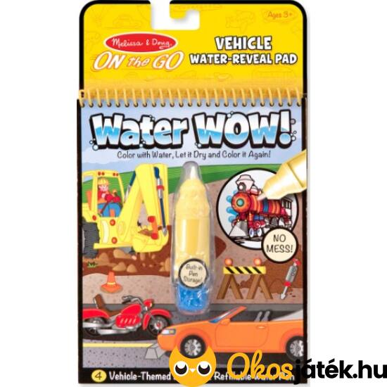 Melissa Doug Water Wow rajzolás vízzel - Autós 15375 (ME-K2)