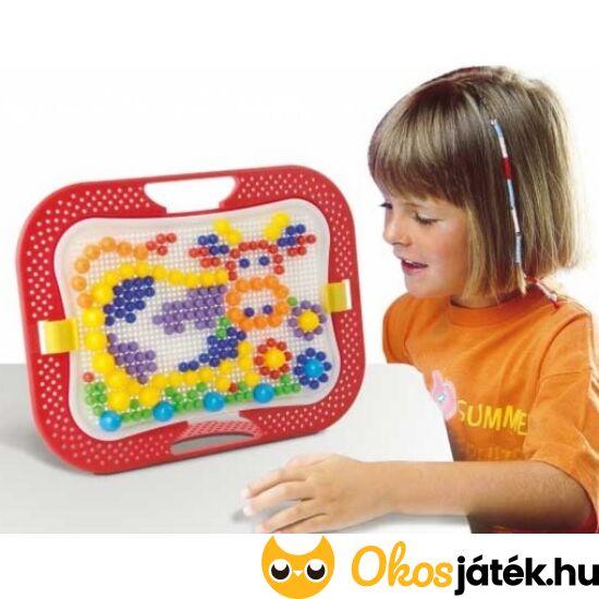 """Quercetti pötyijáték, tüskejáték különböző méretű elemekkel - Fanta Color Design 0900 (KW) """"utolsó darabok"""""""