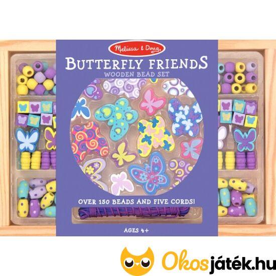 Pillangós ékszerkészítő, gyöngyfűző játék - Melissa Doug 14179 (ME-K1)