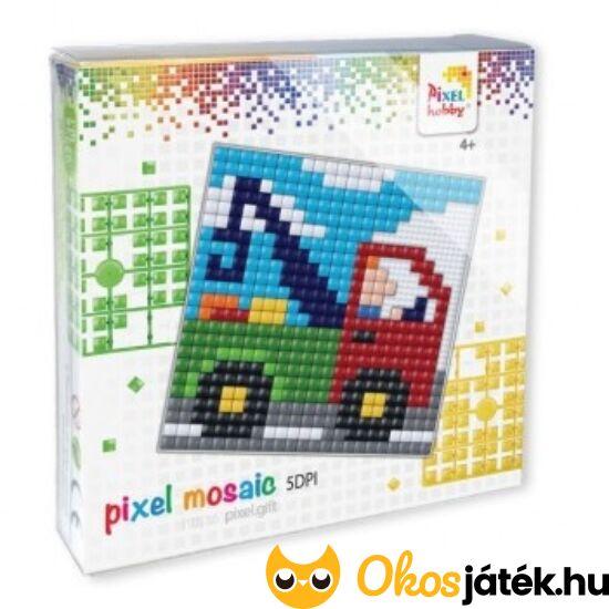 """Pixel XL - Teherautó 41031 - mozaik képkirakó kreatív hobby játék (12*12cm alaplappal) (-F)""""Utolsó darabok"""""""