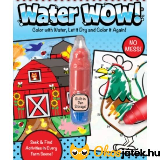 Pont összekötő, színező játék vízzel tölthető tollal Farm - Melissa Water wow 19485 (ME-K3)