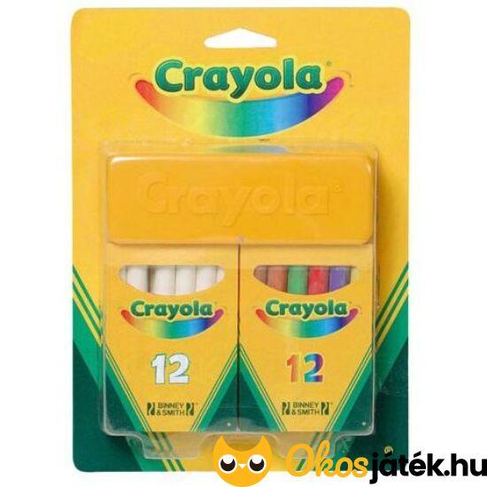Pormentes táblakréta szett törlővel - Crayola, színes+fehér+szivacs 98268
