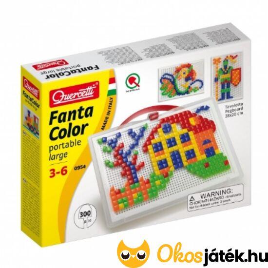 Mozaik kreatív játék, pötyi játék négyzet és háromszög formákkal - Quercetti 954 (KW)