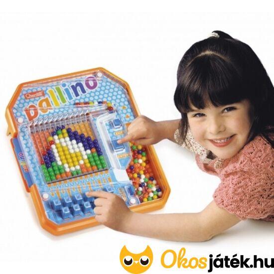 """Quercetti Pallino NAGY, golyós mozaik kirakó játék, színkirakó """"gép"""" - 1020 (KW) """"utolsó darabok"""""""